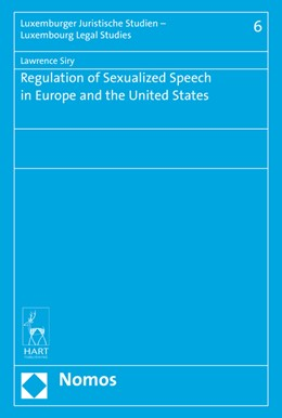 Abbildung von Siry | Regulation of Sexualized Speech in Europe and the United States | 2016