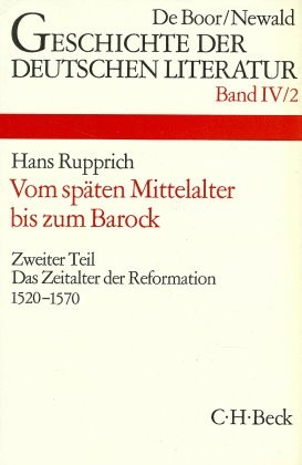 Abbildung von Geschichte der deutschen Literatur  Bd. 4/2: Das Zeitalter der Reformation (1520-1570)   1973