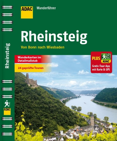 ADAC Wanderführer Rheinsteig plus Gratis Tour App, 2016 | Buch (Cover)