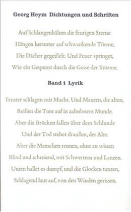 Abbildung von Dichtungen und Schriften Bd. 1: Lyrik | 1981