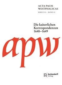 Abbildung von Acta Pacis Westphalicae   2015