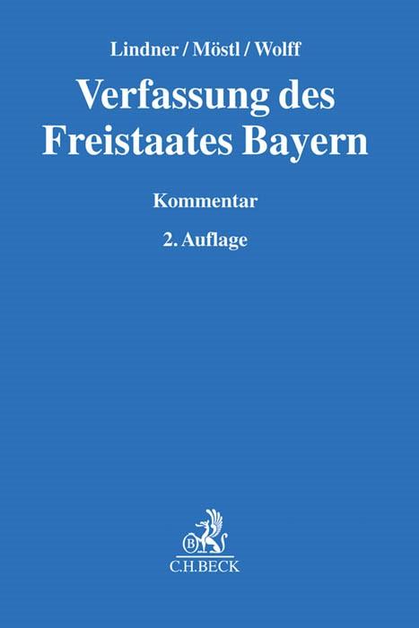Verfassung des Freistaates Bayern | Lindner / Möstl / Wolff | 2. Auflage, 2017 | Buch (Cover)