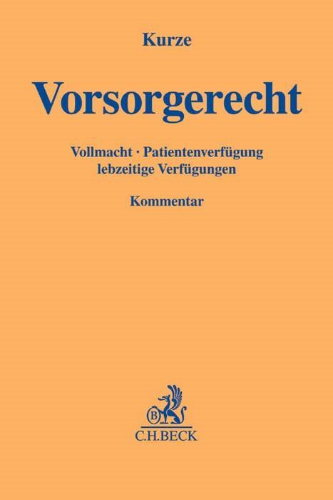 Vorsorgerecht | Kurze, 2017 | Buch (Cover)