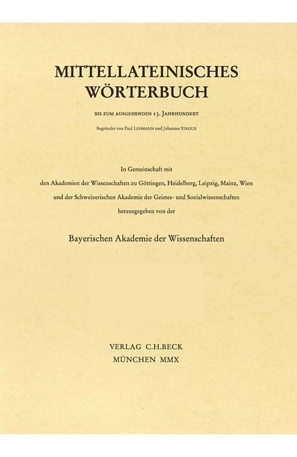 Cover: , Mittellateinisches Wörterbuch  Abkürzungs- und Quellenverzeichnis