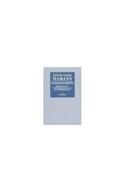 Cover: Johann Georg Hamann, Londoner Schriften