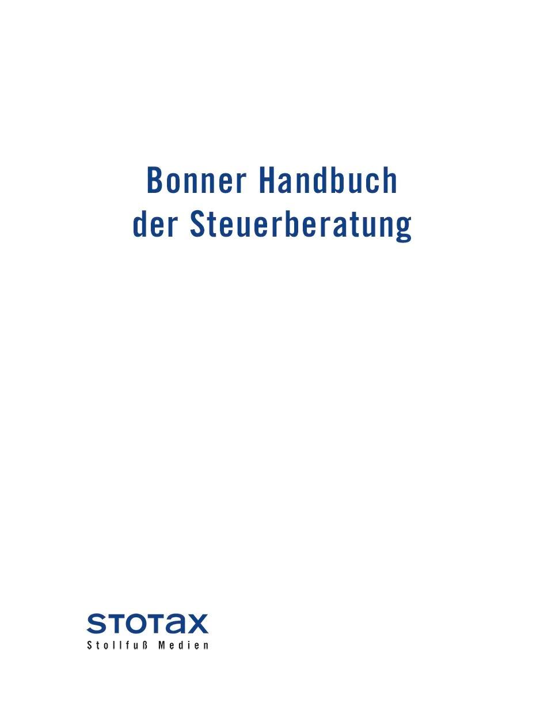 Abbildung von Bonner Handbuch der Steuerberatung • ohne Aktualisierungsservice | Loseblattwerk mit 148. Aktualisierung | 2018