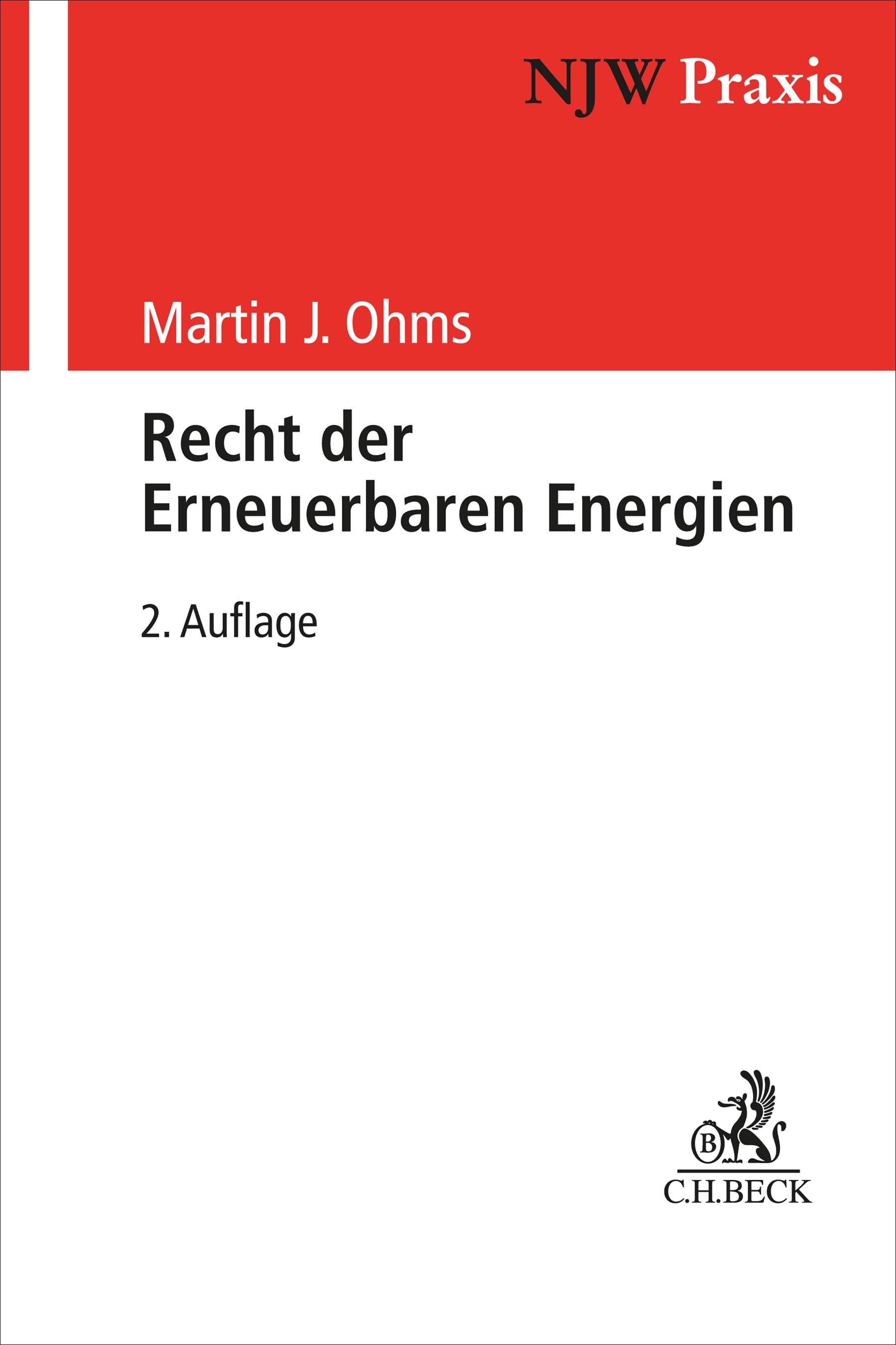 Recht der Erneuerbaren Energien   Ohms   2. Auflage, 2019   Buch (Cover)