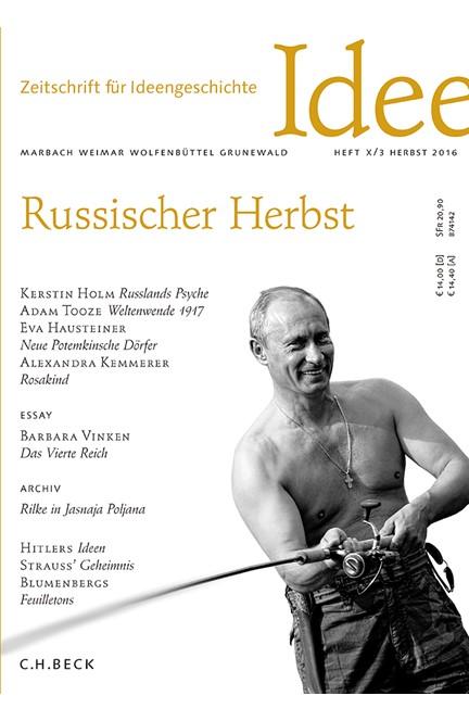 Cover: , Zeitschrift für Ideengeschichte Heft X/3 Herbst 2016