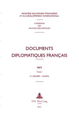 Abbildung von Documents diplomatiques français | 2015 | 1971 – Tome I (1er janvier – 3... | 39