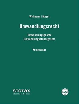 Abbildung von Widmann / Mayer | Umwandlungsrecht • ohne Aktualisierungsservice | Loseblattwerk mit 181. Aktualisierung | 2019 | Kommentar