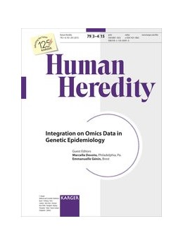 Abbildung von Devoto / Génin | Integration of Omics Data in Genetic Epidemiology | 2015 | Special Topic Issue: Human Her...