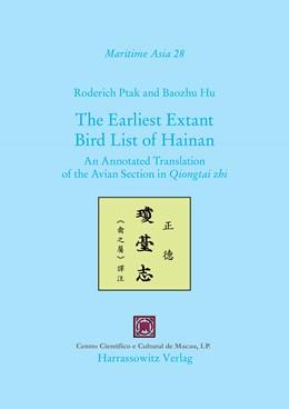 Abbildung von Ptak / Hu   The Earliest Extant Bird List of Hainan   1. Auflage   2015   28   beck-shop.de
