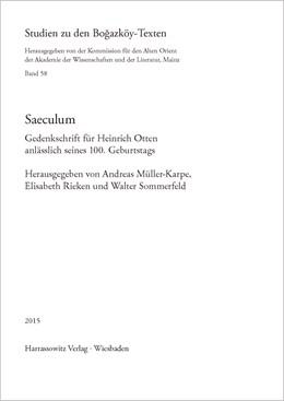 Abbildung von Müller-Karpe / Rieken / Sommerfeld | Saeculum | 1., Auflage | 2015 | Gedenkschrift für Heinrich Ott... | 58