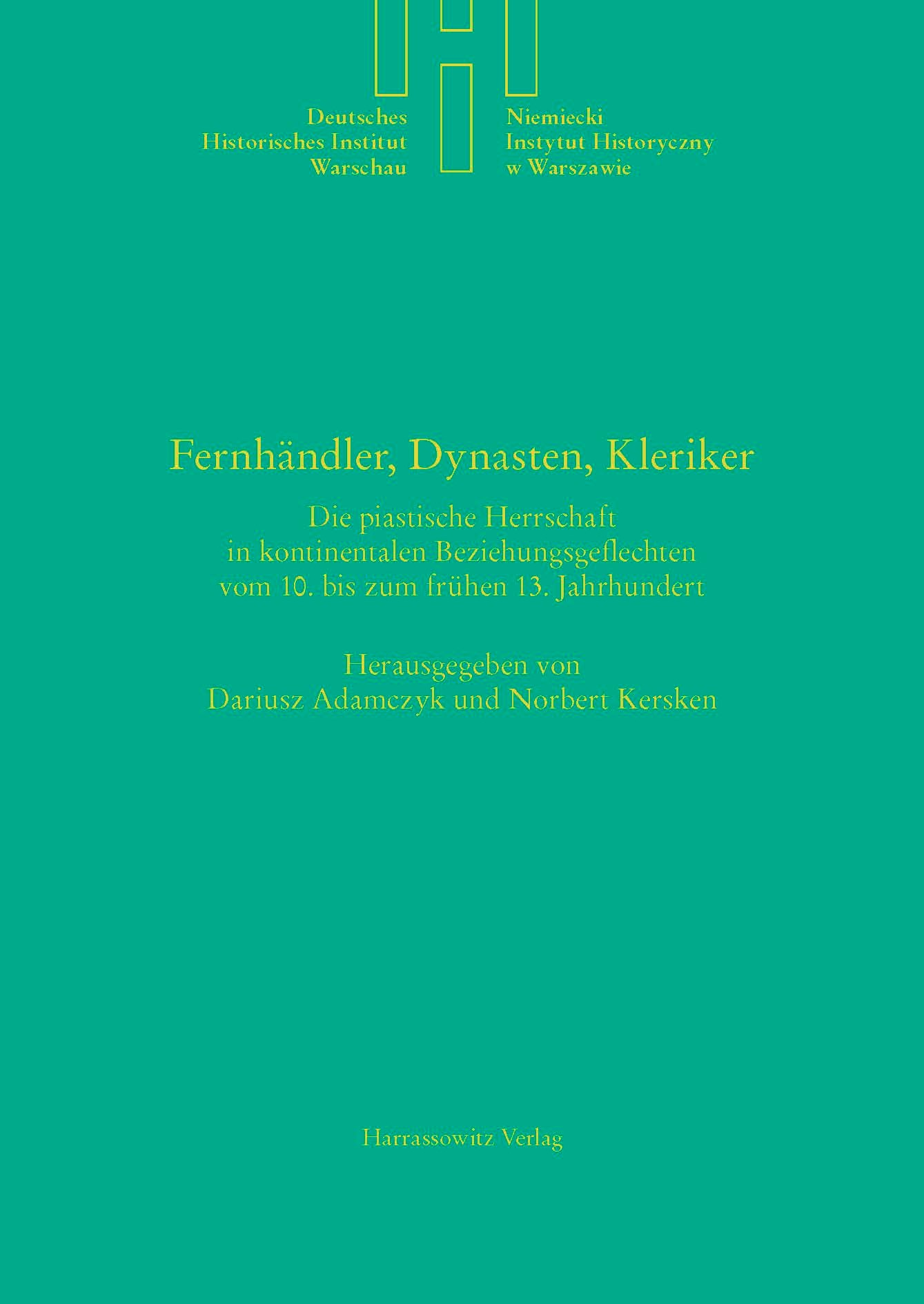 Fernhändler, Dynasten, Kleriker | Adamczyk / Kersken, 2015 | Buch (Cover)