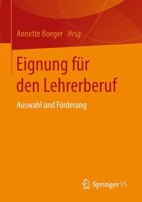 Abbildung von Boeger | Eignung für den Lehrerberuf | 2015