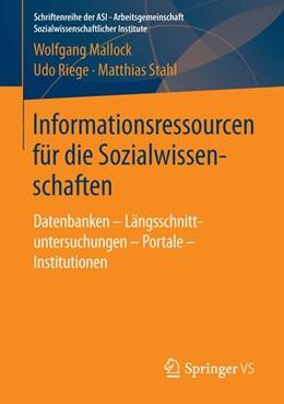 Abbildung von Mallock / Riege | Informationsressourcen für die Sozialwissenschaften | 1. Auflage | 2015 | beck-shop.de