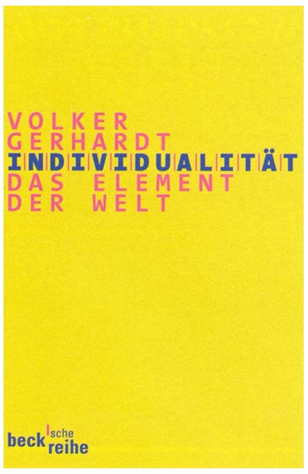 Cover: Volker Gerhardt, Individualität