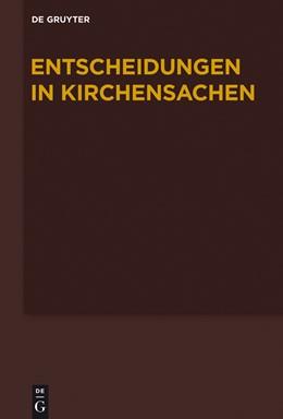 Abbildung von Hering / Lentz / Muckel | Entscheidungen in Kirchensachen: 1.1.-30.6.2012 | 2015 | Band 59: 1.1.-30.06.2012