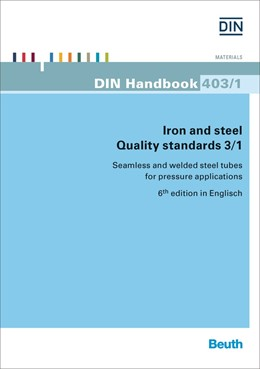 Abbildung von DIN e.V. | Iron and steel - Quality standards 3/1 | 6. Auflage | 2016 | 403/1 | beck-shop.de