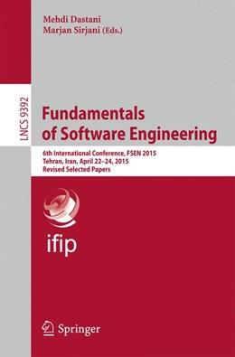 Abbildung von Dastani / Sirjani | Fundamentals of Software Engineering | 1. Auflage | 2015 | 9392 | beck-shop.de