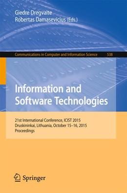 Abbildung von Dregvaite / Damasevicius | Information and Software Technologies | 1st ed. 2015 | 2015 | 21st International Conference,... | 538