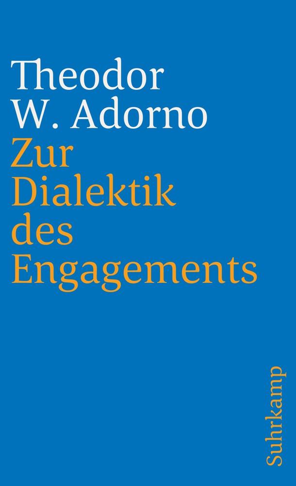 Abbildung von Adorno   Zur Dialektik des Engagements   1973