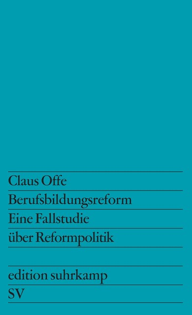 Berufsbildungsreform | Offe, 1975 | Buch (Cover)