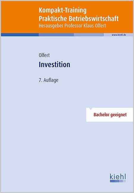 Kompakt-Training Investition | Olfert (Hrsg.) | 7., aktualisierte Auflage, 2015 | Buch (Cover)