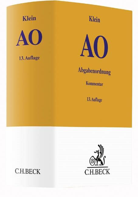 Abgabenordnung: AO   Klein   13., völlig neubearbeitete Auflage, 2016   Buch (Cover)