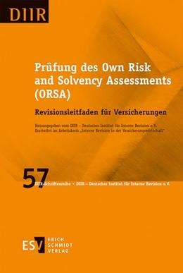 Abbildung von DIIR – Deutsches Institut für Interne Revision e. V. | Prüfung des Own Risk and Solvency Assessments (ORSA) | 1. Auflage | 2015 | Band 57 | beck-shop.de