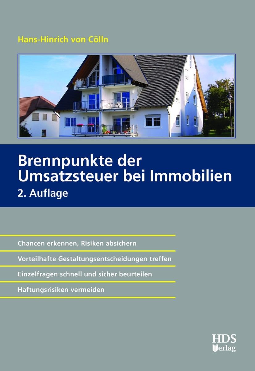 Brennpunkte der Umsatzsteuer bei Immobilien | von Cölln | 2., erweiterte Auflage, 2015 | Buch (Cover)