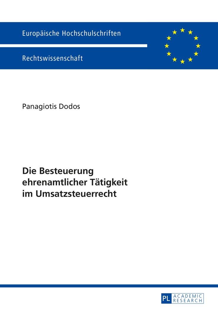 Abbildung von Dodos | Die Besteuerung ehrenamtlicher Tätigkeit im Umsatzsteuerrecht | 2015