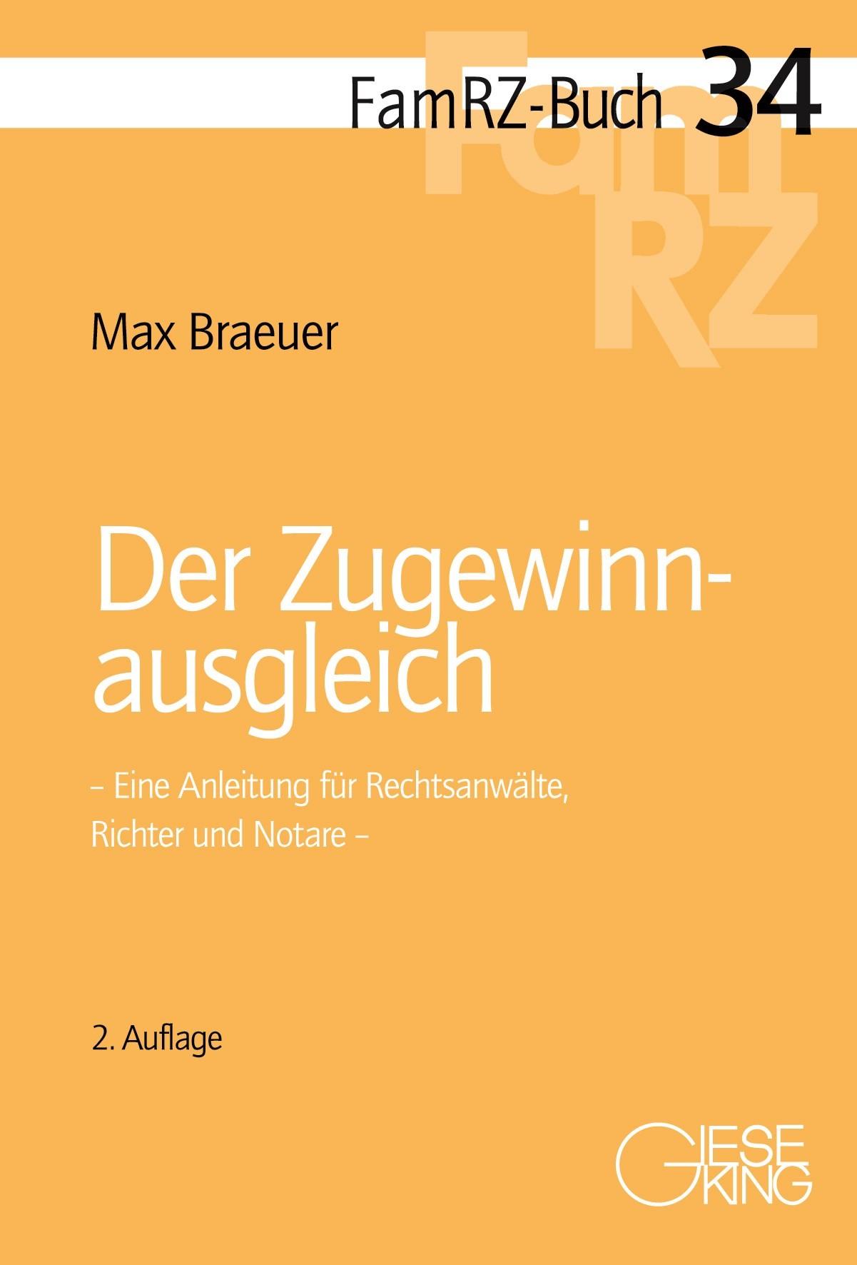 Der Zugewinnausgleich | Braeuer | 2., neu bearbeitete Auflage, 2015 | Buch (Cover)