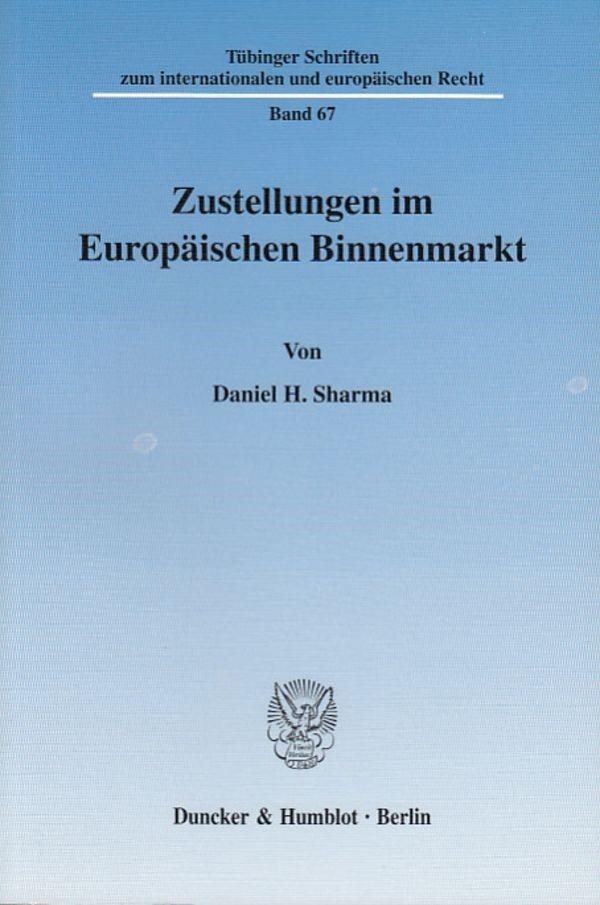 Abbildung von Sharma | Zustellungen im Europäischen Binnenmarkt. | 2003
