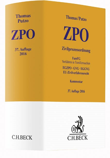 Zivilprozessordnung: ZPO | Thomas / Putzo | Buch (Cover)