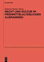 Recht und Kultur im frühmittelalterlichen Alemannien | Brather, 2017 | Buch (Cover)