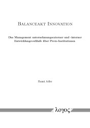 Balanceakt Innovation | Adler, 2015 | Buch (Cover)