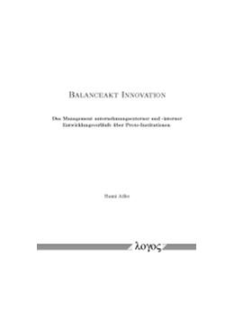 Abbildung von Adler   Balanceakt Innovation   2015   Das Management unternehmungsex...