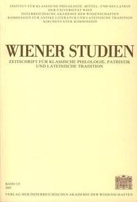 Wiener Studien. Zeitschrift für Klassische Philologie, Patristik und Lateinische Tradition / Wiener Studien Band 115/2002 | / Schwabl, 2002 | Buch (Cover)