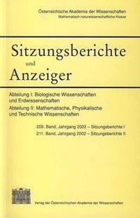 Abbildung von Österreichische   Sitzungsbericht und Anzeiger der Mathematisch-naturwissenschaftlichen Klasse   2004