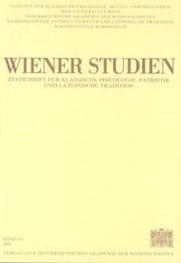 Wiener Studien. Zeitschrift für Klassische Philologie, Patristik und Lateinische Tradition / Wiener Studien Band 118/2005 | / Smolak, 2005 | Buch (Cover)