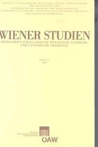 Wiener Studien. Zeitschrift für Klassische Philologie, Patristik und Lateinische Tradition / Wiener Studien Band 121/2008 | / Smolak, 2008 | Buch (Cover)