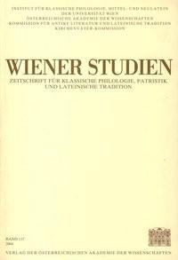 Wiener Studien. Zeitschrift für Klassische Philologie, Patristik und Lateinische Tradition / Wiener Studien Band 117/2004   / Schwabl, 2004   Buch (Cover)