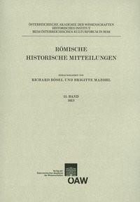 Abbildung von Bösel / Mazohl | Römische Historische Mitteilungen | 2014