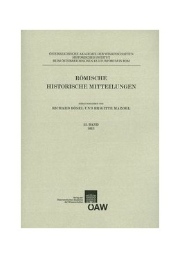 Abbildung von Bösel / Mazohl | Römische Historische Mitteilungen | 2014 | 55/2013 | 55