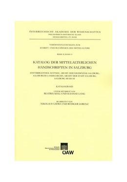 Abbildung von Hayer | Katalog der mittelalterlichen Handschriften in Salzburg | 1. Auflage | 2015 | 475 | beck-shop.de