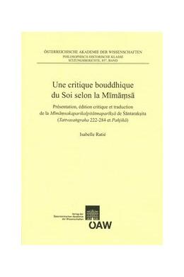 Abbildung von Ratié | Une critique bouddhique du Soi selon la Mimamsa | 1. Auflage | 2014 | 84 | beck-shop.de
