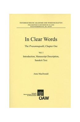 Abbildung von MacDonald | In Clear Words The Prasannapada, Chapter One | 1. Auflage | 2015 | 863 | beck-shop.de