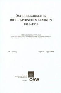 Österreichisches Biographisches Lexikon 1815-1950 65. Lieferung | Österreichische Akademie d. Wissenschaften, 2014 | Buch (Cover)