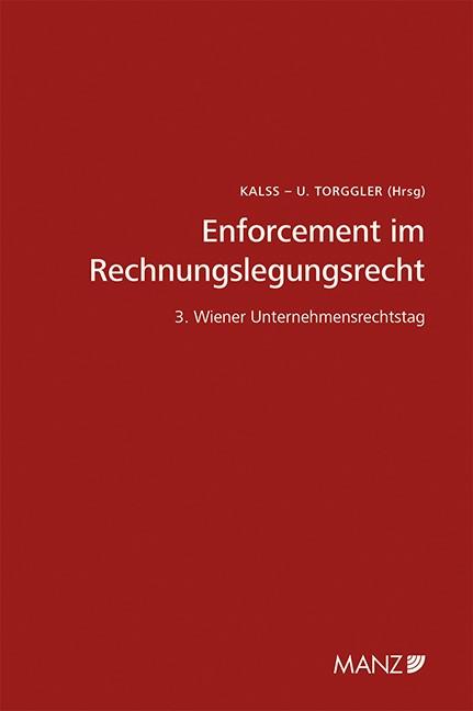 Enforcement im Rechnungslegungsrecht | Kalss / Torggler, 2015 | Buch (Cover)